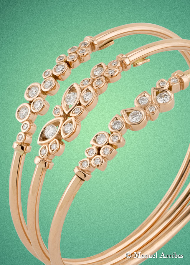 Joyería, pulsera diamantes. Fotografía de producto