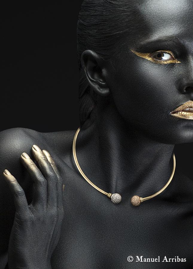Joyería, collar. Fotografía de producto y publicitaria